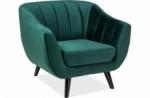 fauteuil elsa 1 place en tissu de qualité, couleur vert
