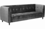 canapé 3 places avec couchage en tissu josty couleur gris foncé