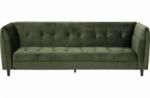 canapé 3 places avec couchage en tissu josty couleur vert forêt