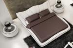 lit en cuir italien de luxe luxen, blanc