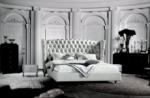 lit design de luxe princesse, avec sommier à lattes, blanc 140x200