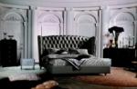 lit design de luxe princesse, avec sommier à lattes, gris foncé 140x200