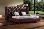 lit design de luxe princesse, avec sommier à lattes, chocolat 140x200