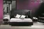 lit design de luxe princesse, avec sommier à lattes, noir, 140x200