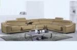 canapé d'angle en cuir buffle italien de luxe 7 places londres, beige, angle droit