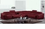 canapé d'angle en cuir buffle italien de luxe 7 places londres, bordeaux, angle droit