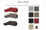 canapé d'angle convertible en cuir de luxe italien , 5 places lugano, couleur personnalisée, angle gauche