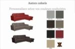 canapé d'angle convertible en cuir de luxe italien , 5 places lugano, couleur personnalisée, angle droit
