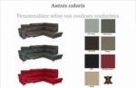 canapé d'angle en cuir italien de luxe 5 places luzerne, avec relax électrique et coffre, couleur personnalisée, angle droit