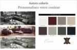 canapé d'angle relax en cuir de buffle italien de luxe avec 2 relax électriques, 7/8 places, monte carlo, couleur personnalisée, angle gauche
