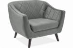 fauteuil montini 1 place en tissu de qualité, couleur gris