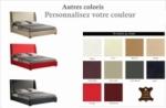 lit design de luxe perfecto, avec sommier à lattes, couleur personnalisée, 140x200