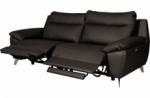 canapé taille 2 places avec 2 relax en 100% tout cuir épais de luxe italien avec 2 relax électriques, perini, chocolat