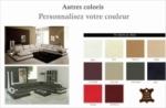canapé d'angle en cuir italien 7/8 places bestof, personnalisé