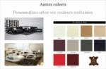 canapé d'angle en cuir italien 8 places nordik, personnalisé