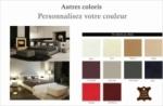 lit en cuir italien de luxe farniente, (personnalisez votre couleur)