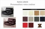fauteuil 1 place en cuir italien jonah, personnalisé