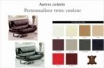 canapé 2 places en cuir italien jonah, personnalisé