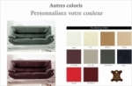 canapé 3 places en cuir italien jonah, personnalisé