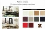 canapé d'angle en cuir italien 5 places moderni, personnalisé