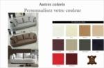 canapé 3 places en cuir italien richmond, personnalisé