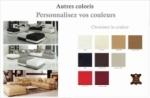 canapé d'angle en cuir italien 6/7 places petit elixir, couleur personnalisée, angle gauche
