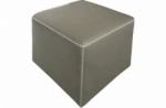 pouf carré buffalo en cuir de buffle (gamme de cuir de buffle), gris clair