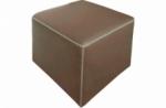 pouf carré buffalo en cuir de buffle (gamme de cuir de buffle), moka