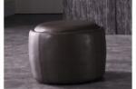 pouf rond buffalino en cuir de buffle (gamme de cuir de buffle), chocolat