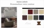fauteuil 1 place en cuir italien buffle rivoli, couleurs personnalisées.