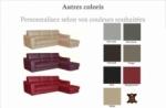 canapé d'angle convertible en cuir italien de luxe 5 places santorin, avec coffre, couleur personnalisée, angle droit