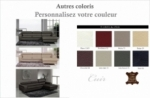 canapé d'angle en cuir buffle italien 5 places , sardaigne, couleur personnalisée, angle droit;