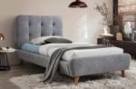 lit en tissu de qualité tina, gris, 90x200
