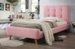 lit en tissu de qualité tina, rose, 90x200
