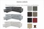 canapé d'angle convertible en cuir italien de luxe 5/6 places tony, avec coffre, couleur personnalisée, angle gauche