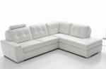 canapé d'angle tosca en simili cuir de qualité supérieure, angle droit, blanc