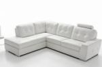 - canapé d'angle tosca en simili cuir de qualité supérieure, blanc
