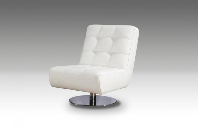 fauteuil de bureau design leni, blanc