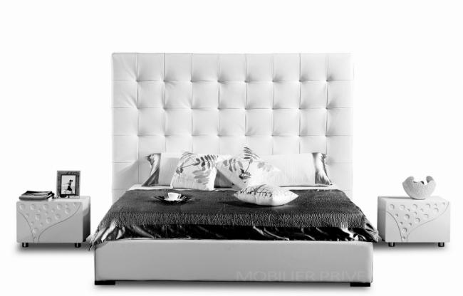 lit adulte en cuir de luxe mobilier priv. Black Bedroom Furniture Sets. Home Design Ideas