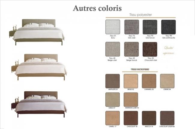 lit design en tissu de luxe alvesa, choix de la couleur du tissu, 180x200