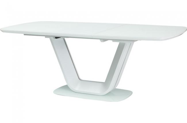 table à manger avec rallonge, luxe armona blanc 140