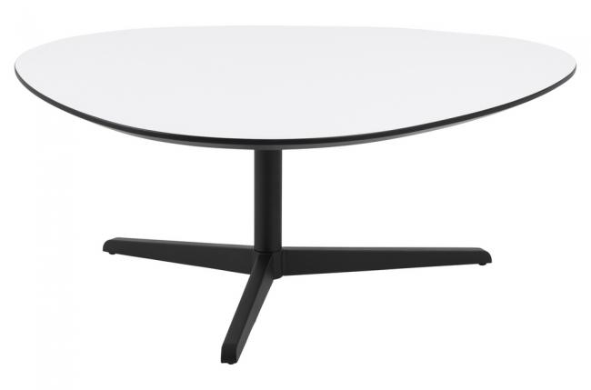 table basse bartens, plateau en mélaminé blanc