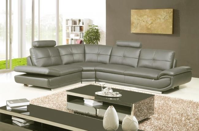canapé d'angle, qualité luxe 6/7 places bellastar, gris foncé, angle gauche