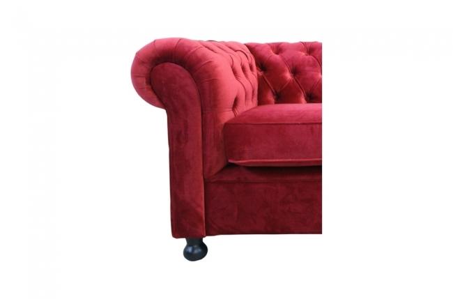Fauteuil 1 place en tissu de qualit chesterfield bordeaux mobilier priv - Canape chesterfield bordeaux ...