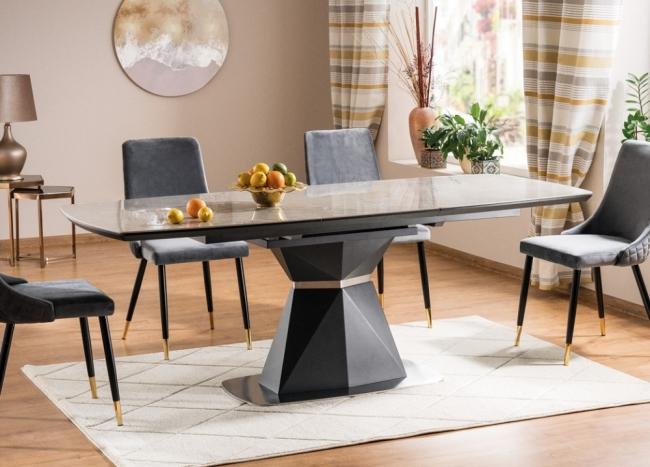 table à manger avec rallonge luxe corti ceramic