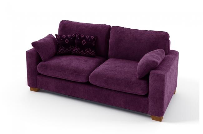 Canap 2 places convertible en tissu de qualit cosy violet mobilier priv - Canape convertible violet ...