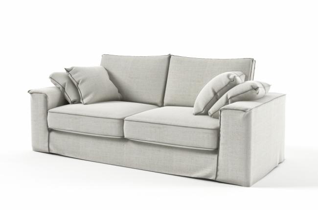 canap 3 places en tissu de qualit crooner blanc cass mobilier priv. Black Bedroom Furniture Sets. Home Design Ideas