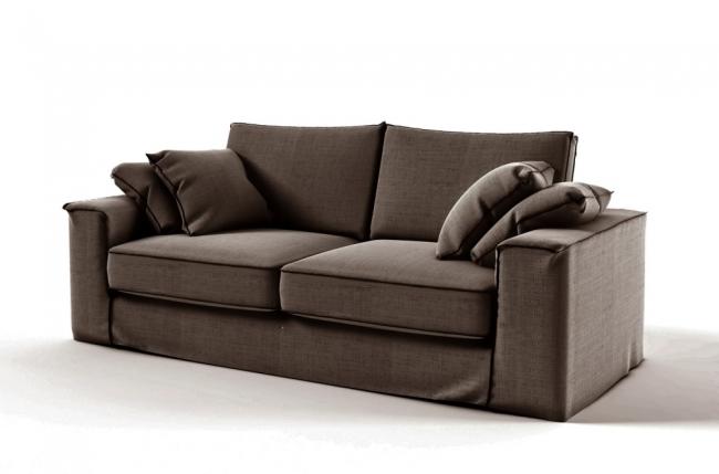 canap 2 places en tissu de qualit crooner marron mobilier priv. Black Bedroom Furniture Sets. Home Design Ideas