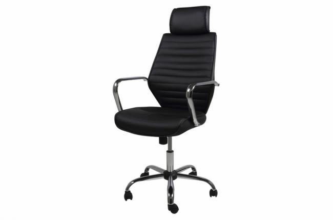 fauteuil de bureau confortable en tissu de qualité emxon, noir