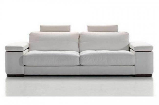 canap 3 places en cuir italien maison blanche blanc mobilier priv. Black Bedroom Furniture Sets. Home Design Ideas